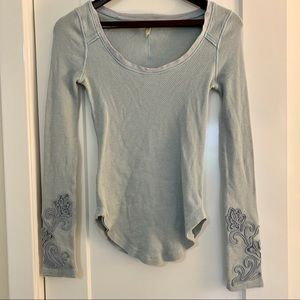 Free People Masquerade Cuff Thermal Top